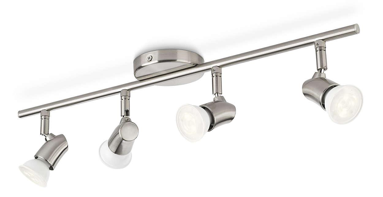 Led Spotleiste Philips Myliving 4 Led Spotlight Ceiling Bar White