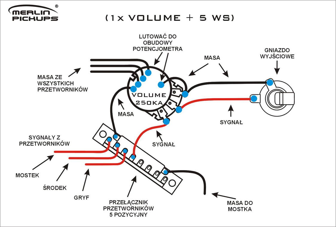 gfs pickups wiring diagram for humbucker