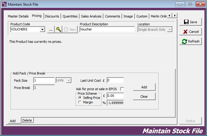 Creating Pre-Paid Vouchers on Merlin \u2013 MERLIN SUPPORT