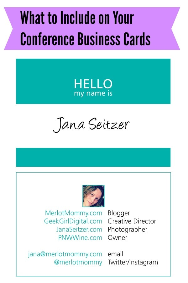 What to include on your blogging conference business cards for What to include on business card