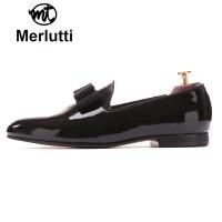 Black Patent Leather Bowtie - MERLUTTI