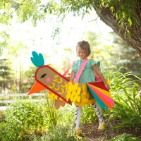 Duct Tape Bird Costume from my book PLAYFUL: Fun Projects to Make With + For Kids