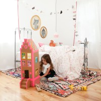 Cardboard Brownstone Dollhouses from PLAYFUL