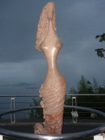The mermaid statue at Sugarloaf Mountain in Rio De Janeiro