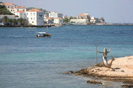 Mermaid Statue on Spetses island