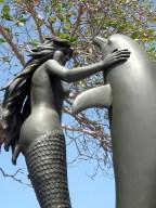 Mermaid & Dolphin at Acapulco's Sinfonia del Mar