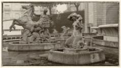 Mermaid Statues at Fonte Luminosa, Lisbon.