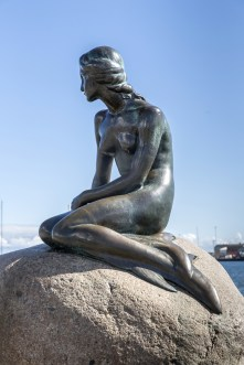 The Little Mermaid Statue in Copenhagen