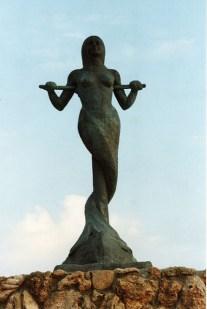 Astros Beach Mermaid Statue.