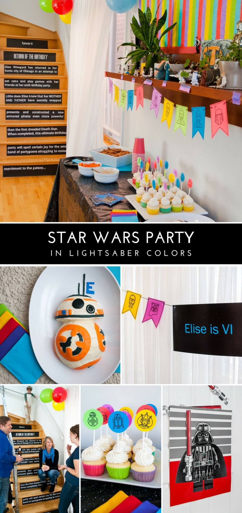 Star Wars Decorations Ideas Star Wars Birthday Party In Lightsaber Colors