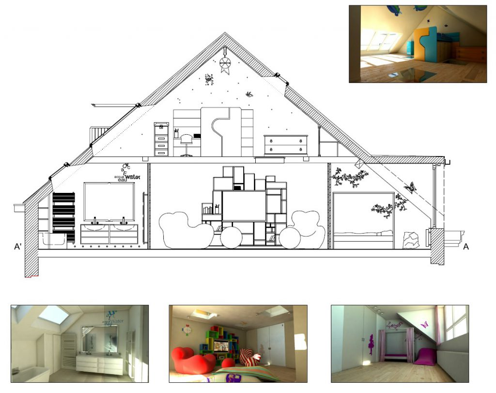 Idee Amenagement Combles Plan Amenagement Combles Mes Combles
