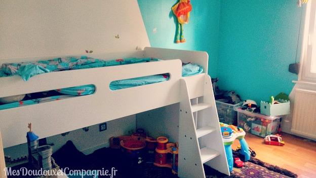 son lit sur lev de grand 3 ans mes doudoux et compagnie blog de maman. Black Bedroom Furniture Sets. Home Design Ideas
