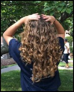 The joy of curls!