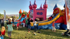 Bouncy houses will make a return this year to the Family Fun Night on May 3. Photo by Stephanie Frehner.