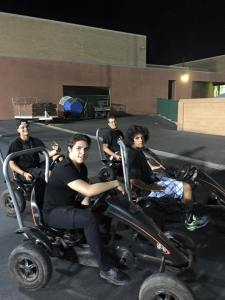 Another fun addition this year was the pedal-powered go carts as seen at the Family Fun Night. Photo courtesy of MPD.
