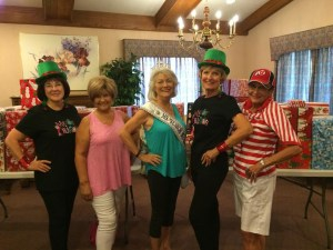 Jean Hardman, Ms. Senior Mesquite 2016, center, is preparing for the Ms. Senior Nevada competition set for Aug. 24 at the South Pointe Casino in Las Vegas. With her are Mesquite Showgirls Jean Watkins, left, Geni Barton, Linda Gault, and Merri Erickson. File photo.