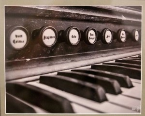 This piece titled 'Pump Organ Days' by artist Shirley Smith is a dramatic digital photography piece that many a music lover is sure to appreciate.  Photo by Teri Nehrenz