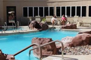 Spa's private pool. Photo by Teri Nehrenz