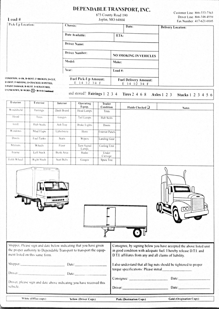 vehicle inspection forms Foolishness and Mayhem - vehicle inspection form
