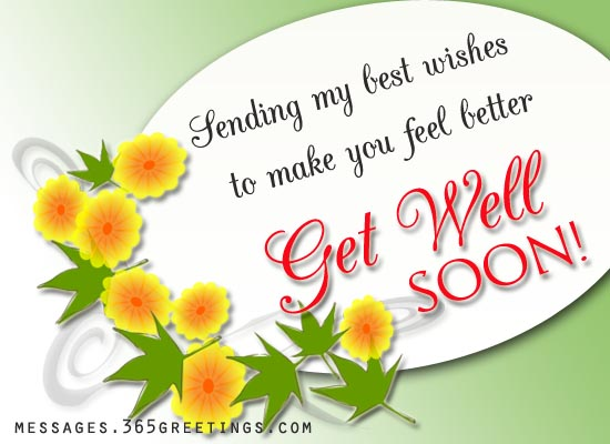 Get Well Soon SMS - 365greetings