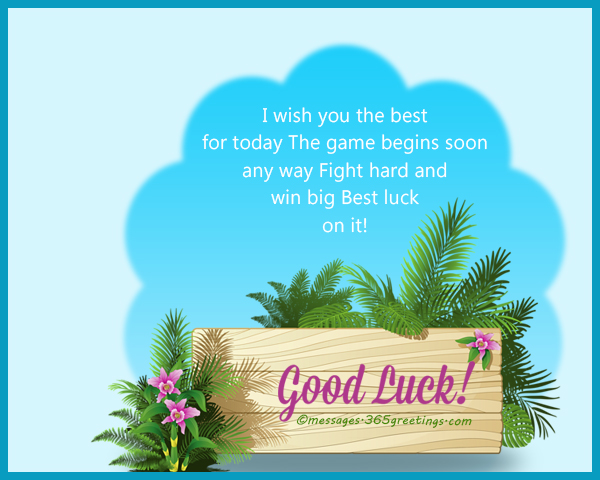 Good Luck Messages, Wishes and Good Luck Quotes - 365greetings