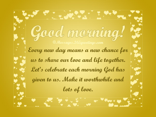 Romantic Good morning Messages and Quotes - 365greetings