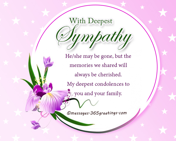 Sympathy Messages And Wishes - 365greetings - sympathy message