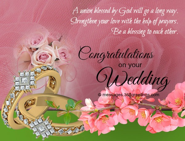 Wedding Wishes And Messages - 365greetings - congratulations for or on
