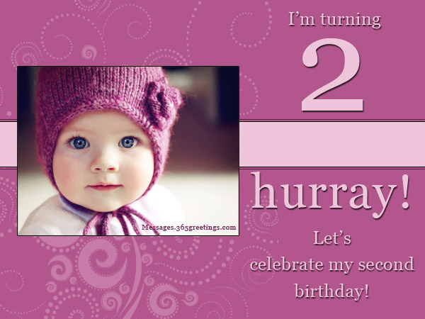 2nd Birthday Invitations And Wording - 365greetings