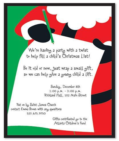 Christmas Party Invitation Wording - 365greetings
