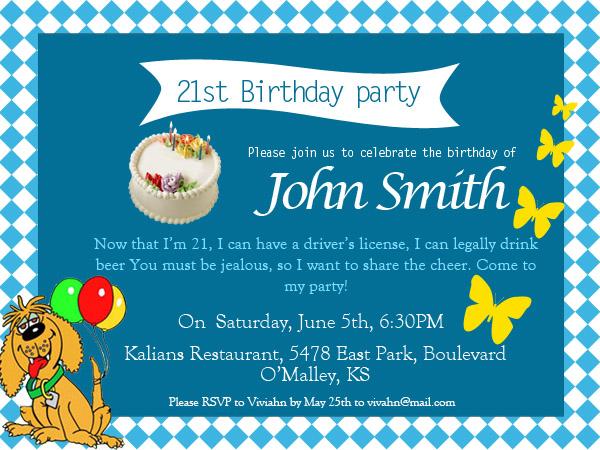 21st Birthday Invitations - 365greetings