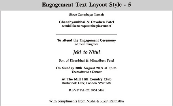 Engagement Invitation Wording - 365greetings - engagement invitation words