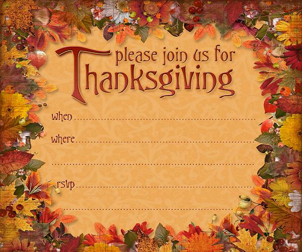 Thanksgiving Invitations - 365greetings