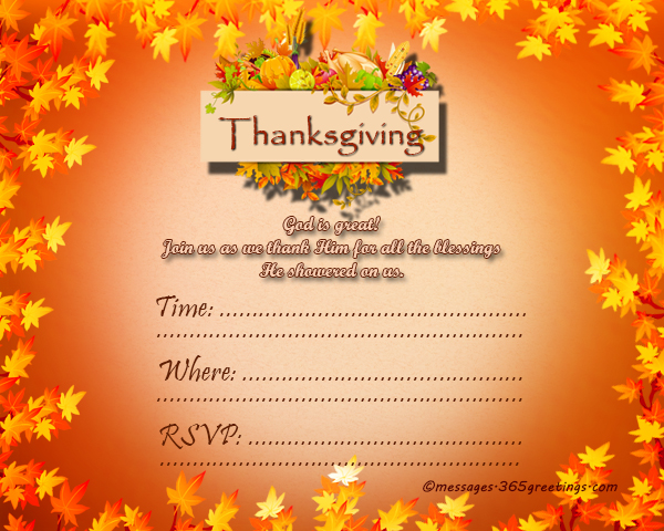 thanksgiving-invitation-cards - 365greetings