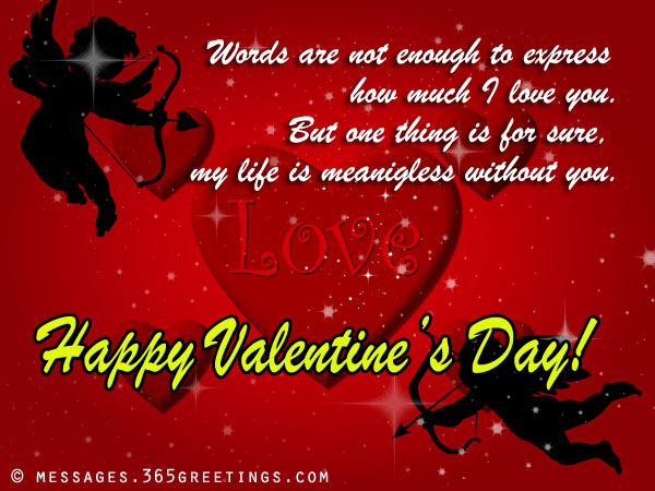 Romantic Valentines Day Messages and Greetings - 365greetings