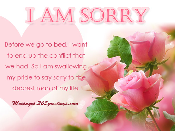 Sorry Messages Archives - 365greetings - apology card messages