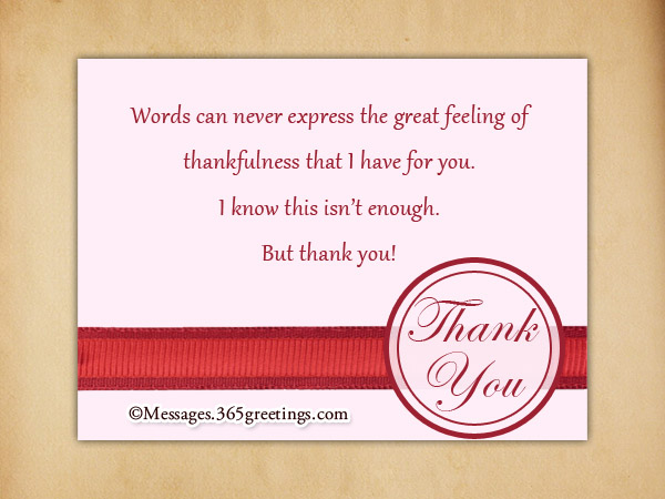 Thank You Card Messages - 365greetings - funeral words for cards