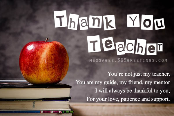 Thank you Messages for Teachers - 365greetings
