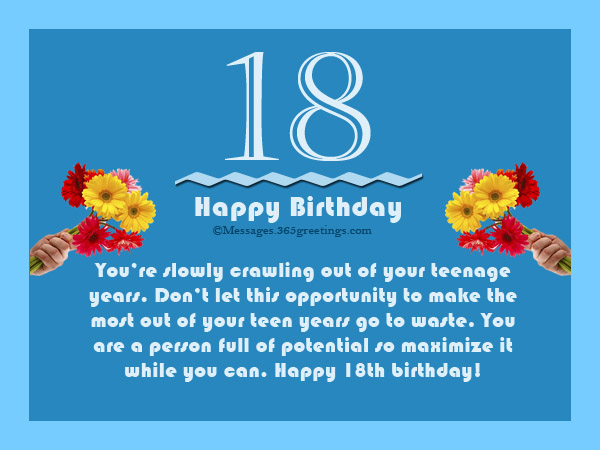 18th Birthday Wishes - Messages, Wordings and Gift Ideas