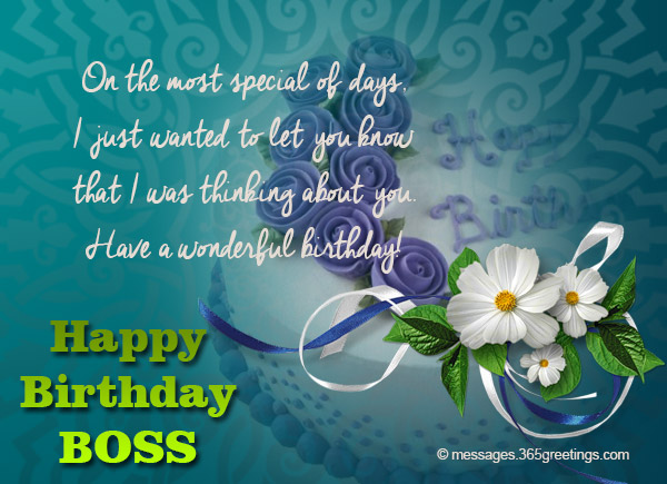 Birthday Wishes For Boss - 365greetings
