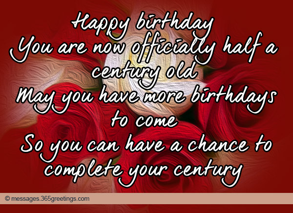 50th Birthday Wishes and Messages - 365greetings - sample happy birthday email