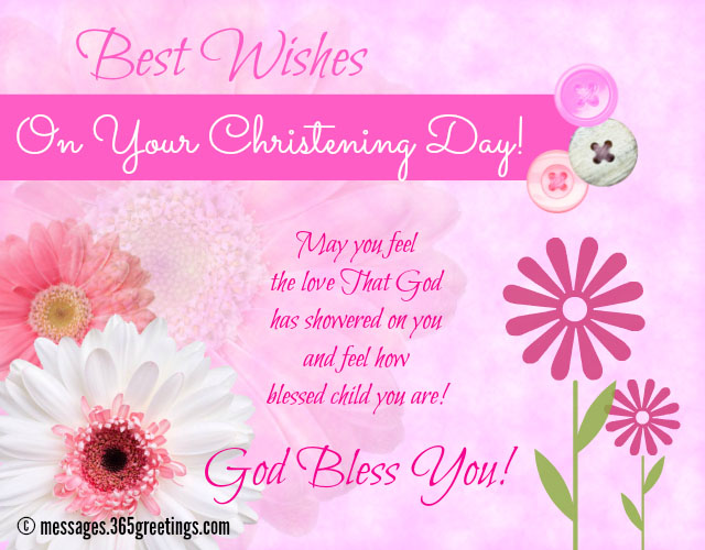 Christening Messages - 365greetings
