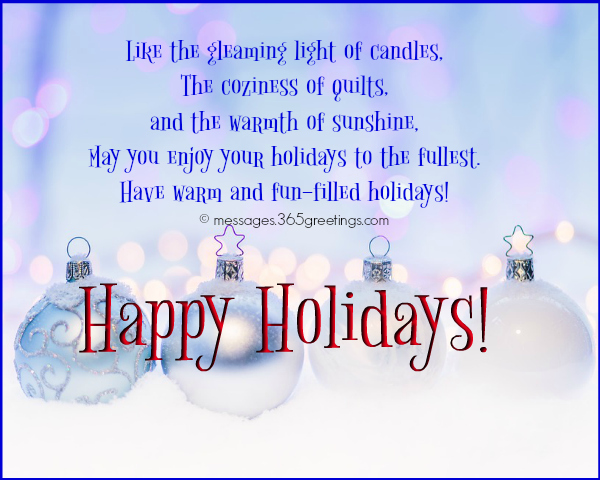 Happy Holiday Wishes, Greetings and Messages - 365greetings - holiday greeting message
