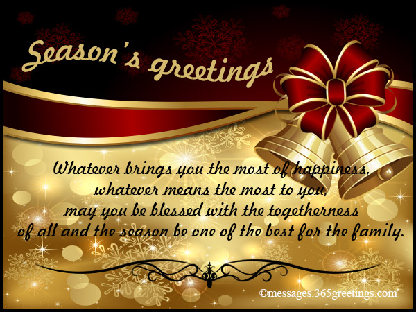 Seasons Greetings Messages - 365greetings - holiday greeting message