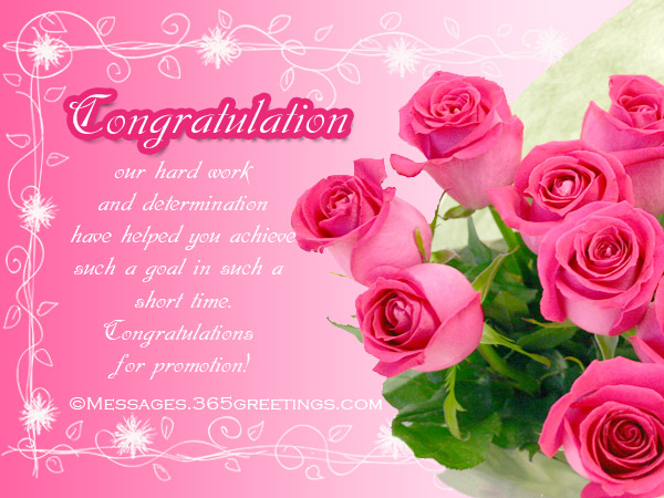 Congratulation Messages for Promotion - 365greetings