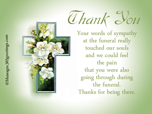 Funeral Thank You Notes - 365greetings - funeral thank you note