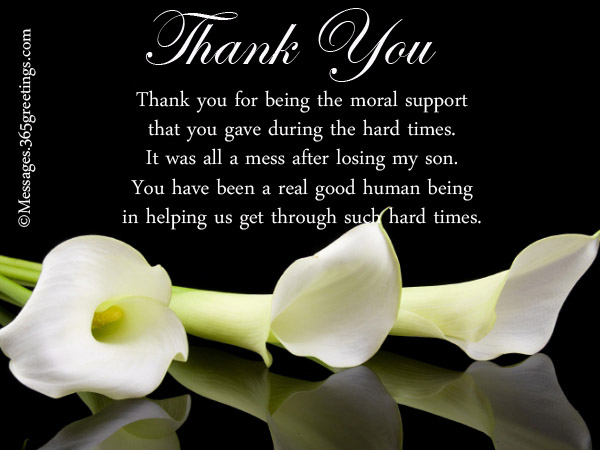 Funeral Thank You Notes - 365greetings