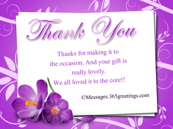 Thank You Messages For Gifts - 365greetings - thank you notes sample