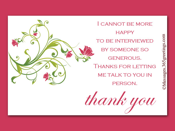 Thank You Notes After Interview - 365greetings