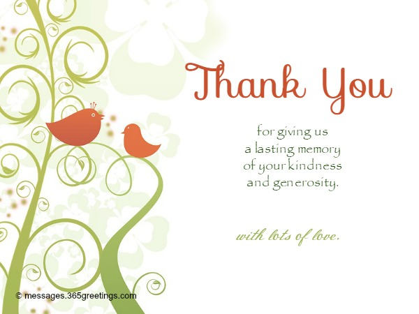 Wedding Thank You Messages - 365greetings